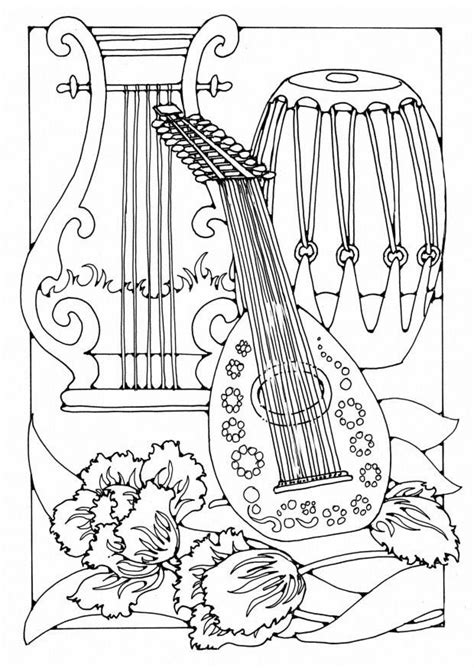 musical instrument coloring book pages musical instrument coloring pages print out coloring home