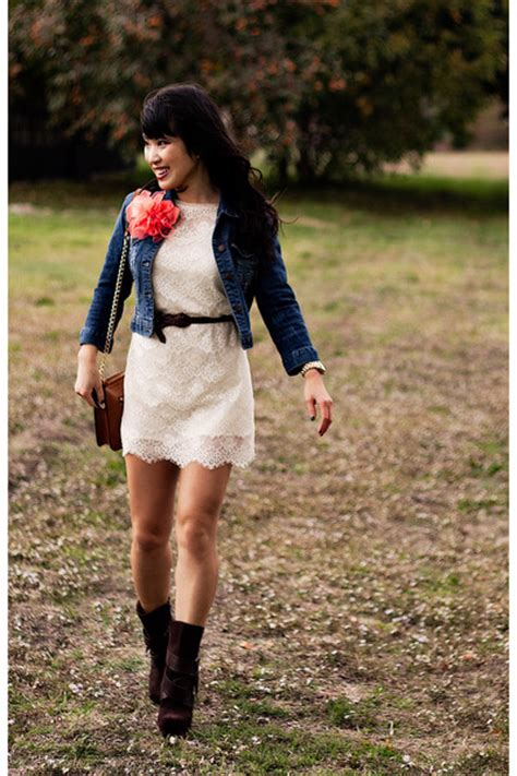 blue jean dress with boots blue denim forever 21 jackets brown boots
