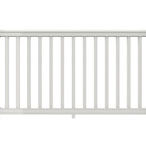 veranda logo veranda 6 ft x 42 in white vinyl premier rail kit with