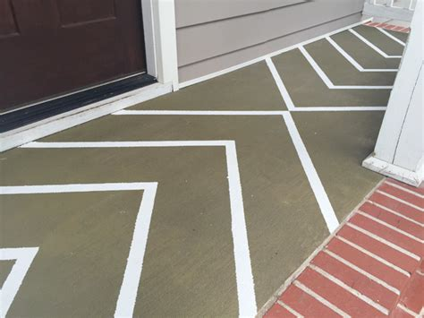 How To Paint Concrete Porch Floor by How To Paint Stripes On A Concrete Porch Floor Checking