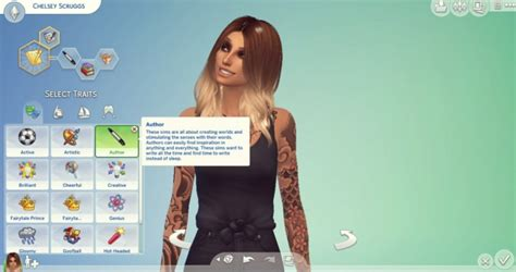 author cas trait  drewstacey  mod  sims sims