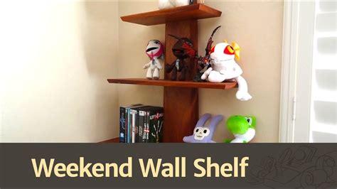 build  quick easy wall shelf youtube