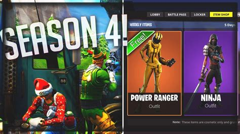 fortnite season 4 new fortnite season 4 skins and weapons leaked
