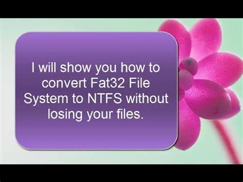 format fat32 to ntfs without losing data how to convert usb flash drive fat32 file system to ntfs