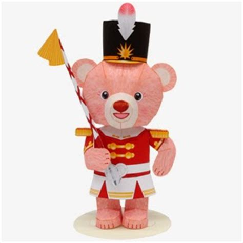 Teddy Papercraft - papercraft mini teddy drum major papercraft4u