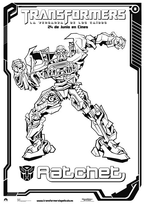 transformers coloring pages ratchet free coloring pages of ironhide transformers 2
