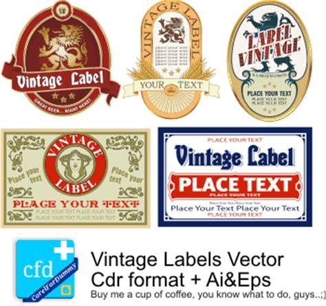 vector label tutorial label vintage vector 4 corel draw tutorial and free vectors