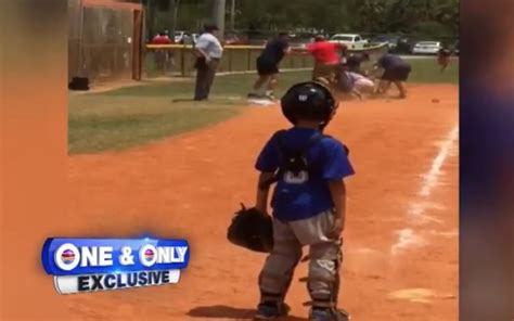Fighting Looks Still by Look Adults Get Into Fight At Youth Baseball In