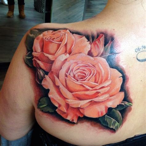 real rose tattoo collection of 25 realistic pink