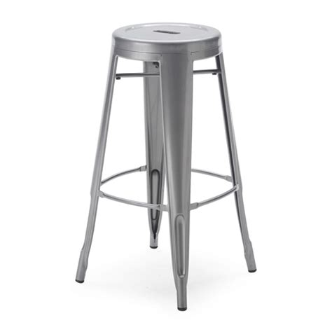 30 Inch Bar Stools Set Of 3 by Set Of 2 Steel 30 Inch Bar Stools In Powder Coat Silver