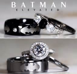batman inspired unique sterling silver tungsten black ringscollection