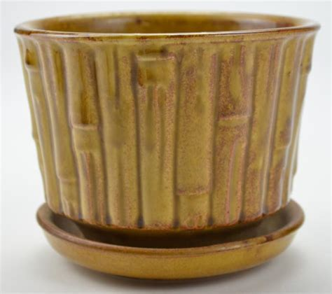 Pottery Planters by Mccoy Beige Vintage And Collectible Pottery Bamboo Planter