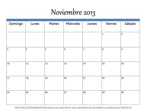 www auh mes noviembre 2016 calendario noviembre 2013 universo guia