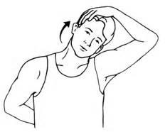 Left ear towards left shoulder until stretch is felt on right side