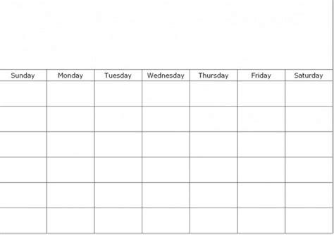 Calendar 6 Weeks Blank 6 Week Calendar Template Calendar Picture Templates