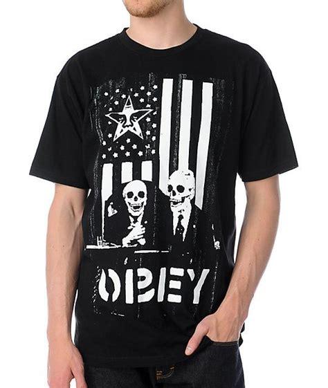Obey Shirt obey dk black t shirt skeleton dress skeletons and