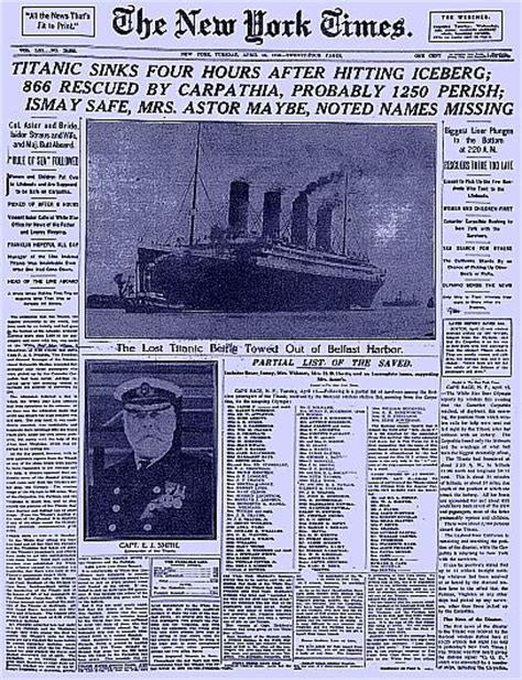 new year article titanic newspaper article new york times