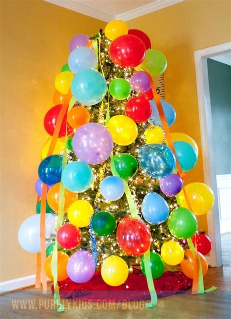 Ea Decorate Happy Birthday Balloon decorate the tree with balloons one