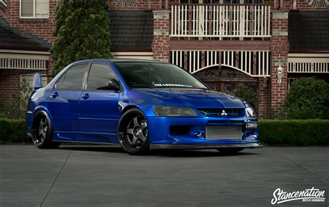 modified mitsubishi epitome of modification michael zomaya s widebody evo