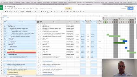 Project Plan Template For Google Sheets V3 X Youtube Sheets Project Plan Template