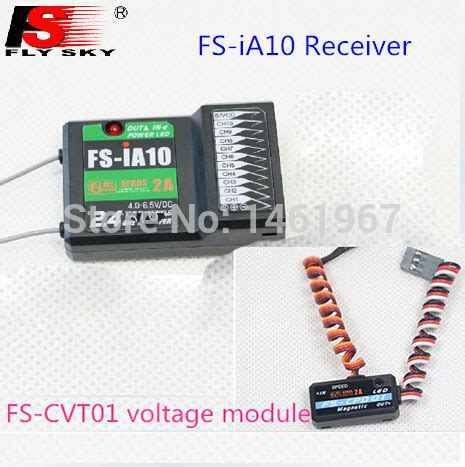 Flysky Fs Cvt01 flysky 10ch channel receiver fs ia10 afhds 2a 2 4g system fs cvt01 voltage acquisition module