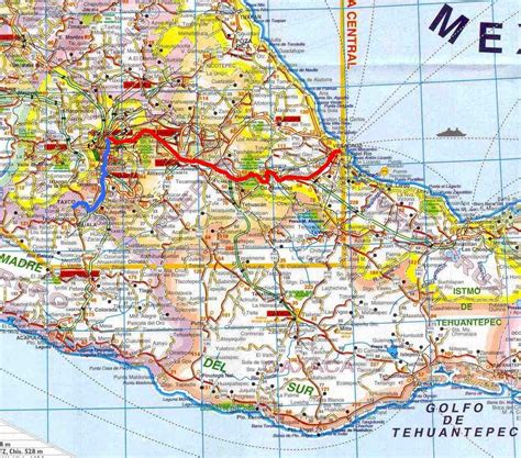 road map mexico mexico road map