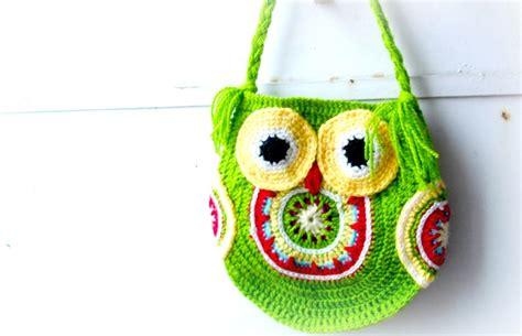 Tote Bag Cutemew Motif Big Owl 1 crochet bag pattern crochet owl bag pattern crochet owl purse funky owl bag pattern no 14