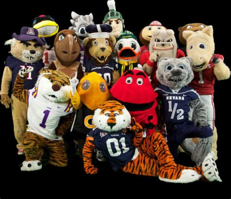 capital one fan vote sixteen feisty college mascots announced for 10th annual