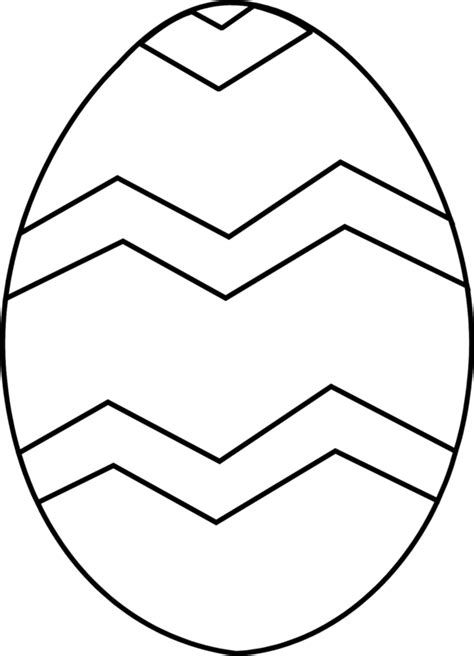 plain egg template clipart best