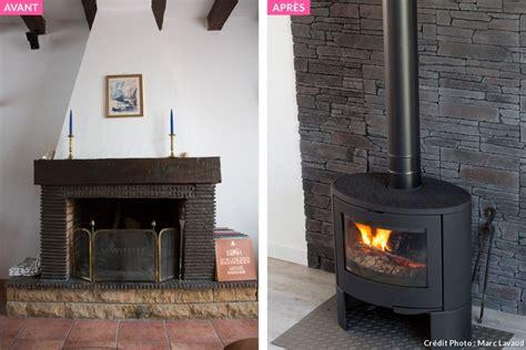 Moderniser une cheminée avant après   bureaux prestige