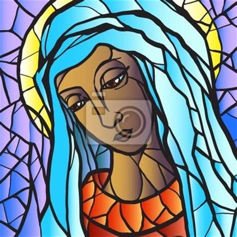 imagenes religiosas en vitral virgen mar 237 a en vidrieras carteles para la pared