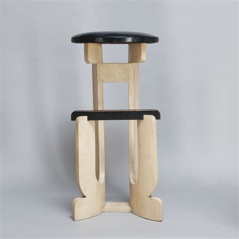Molded Plywood Bar Stool by Gerald Summers Molded Birch Plywood Bar Stool 1930s