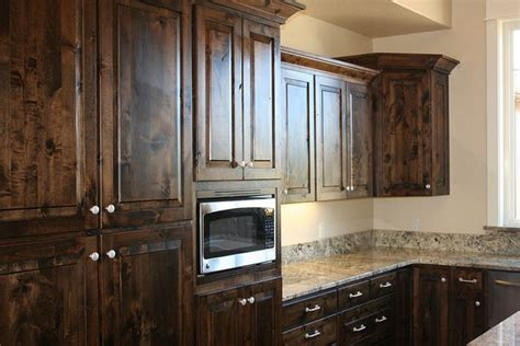 rustic base cabinets for sale knotty alder cabinets
