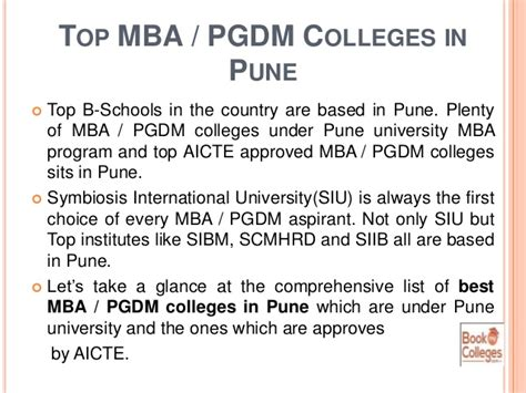 Aicte Approved Mba Colleges In Pune by Find Best Mba Colleges In Pune