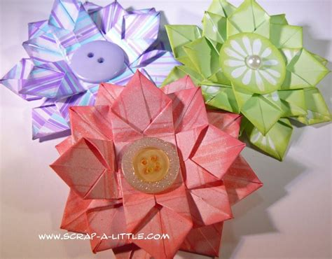 Origami Revealed Flower - origami flower tutorial origamie and quilling