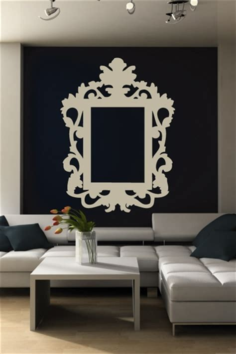 wall stickers picture frames wall decals baroque frame walltat without boundaries
