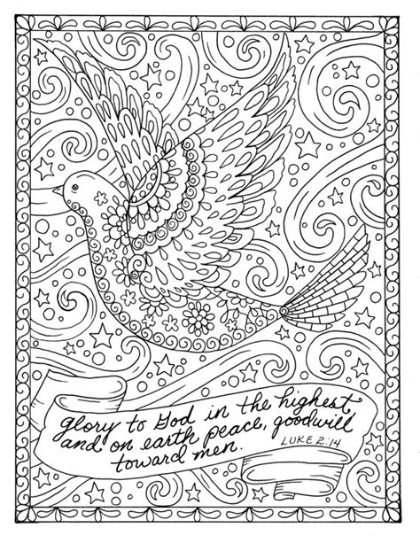 christian christmas coloring pages for adults christmas coloring page dove christian scripture adult digi