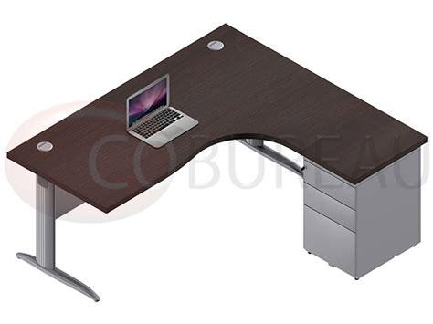 bureau compact 180 cm pro m 233 tal avec caisson m 233 tallique