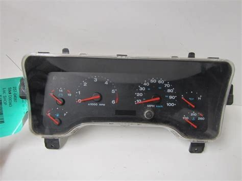jeep wrangler speedometer sell 03 jeep wrangler speedometer cluster lhd mph 121227