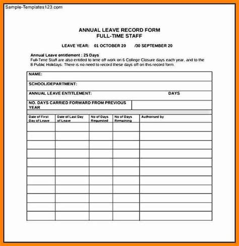 Time Request Template by Employee Time Request From Template Excel Template
