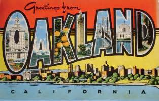 greetings from oakland california postcard flickr photo