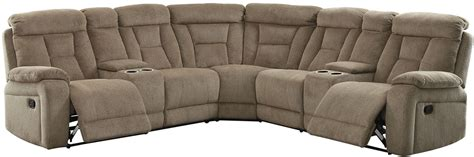 Mocha Reclining Sectional by Maybell Mocha Recliner Sectional Cm6773mc Sectional