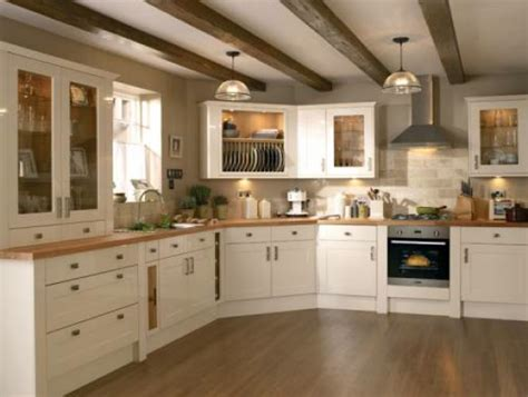 Kitchen Glass Door Cabinets burford gloss cream fixco fitted kitchens