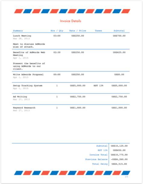 process server invoice template images templates design