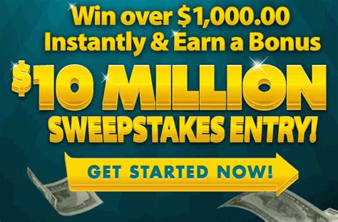 Online Money Winning Contest - 10 000 000 pch instant win sweepstakes sweeps maniac