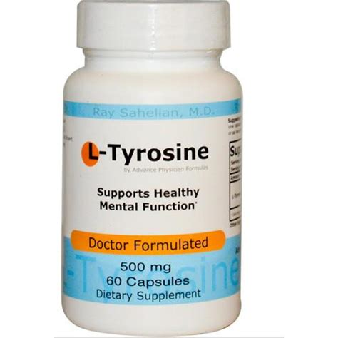 Taking L Tyrosine For Tramadol Detox by L Tyrosine 500mg 60 Capsules Advance Physician Formulas