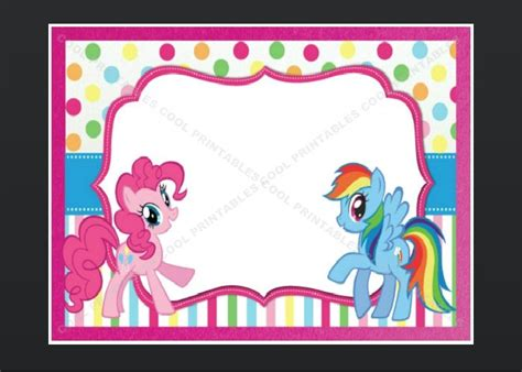 my pony thank you card template my pony blank invitations