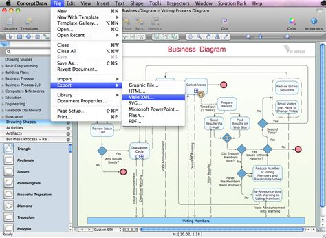 visio document conceptdraw pro compatibility with ms visio in searching