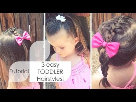baby girl hairstyles youtube 3 easy toddler hairstyles tutorial youtube