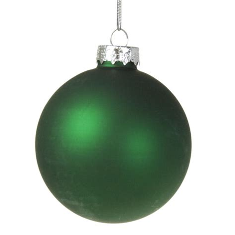 hunter green glass baubles 6 x 70mm christmas time uk